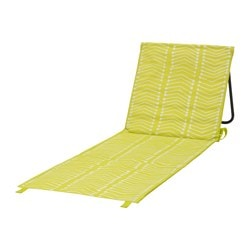 "SOMMAR 2017 chaise, foldable green-yellow Length: 41 3/8 "" Width: 20 1/8 "" Length: 105 cm Width: 51 cm"