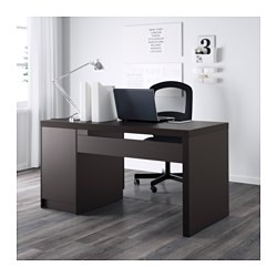 Malm Desk Black Brown