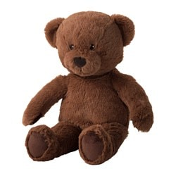 BRUNBJÖRN soft toy, bear Length: 33 cm