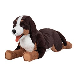 HOPPIG soft toy, dog, bernese mountain dog Length: 63 cm