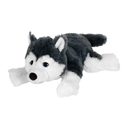 LIVLIG soft toy, dog, siberian husky Length: 26 cm