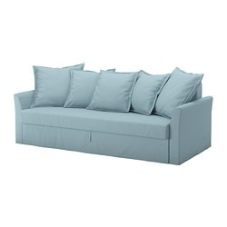 HOLMSUND, Three-seat sofa-bed, Orrsta light blue