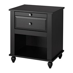 HORNSUND nightstand, black-brown