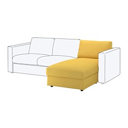 VIMLE chaise longue section, Orrsta golden-yellow Height including back cushions: 80 cm Height backrest: 66 cm Width: 81 cm