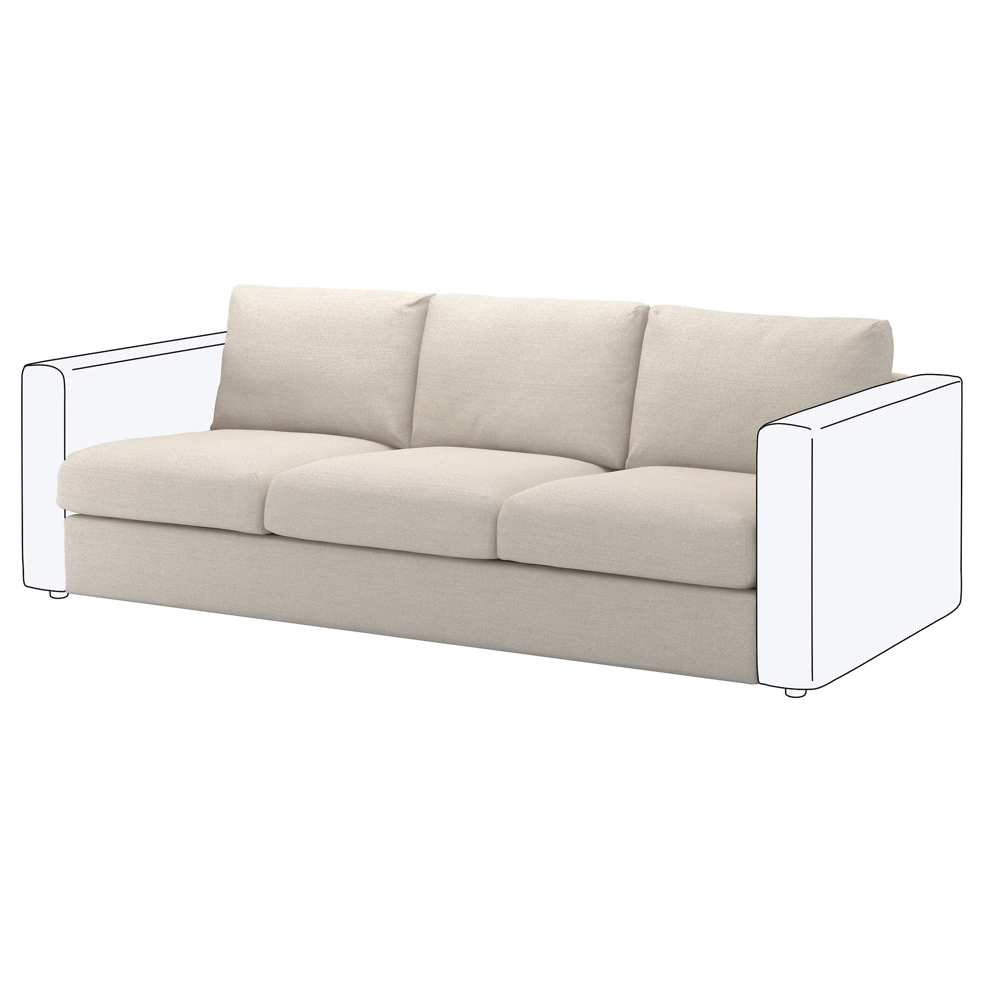 VIMLE Cover for sofa section Gunnared beige IKEA