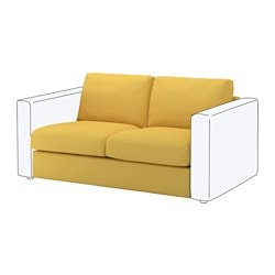 VIMLE 2-seat section, Orrsta golden-yellow Height including back cushions: 80 cm Height backrest: 66 cm Width: 141 cm