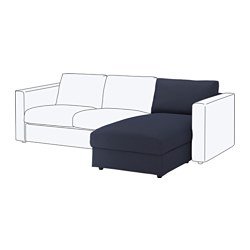 VIMLE chaise longue section, Orrsta black-blue Height including back cushions: 80 cm Height backrest: 66 cm Width: 81 cm