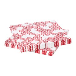 VINTER 2017 paper napkin, red Length: 33 cm Width: 33 cm Package quantity: 30 pieces