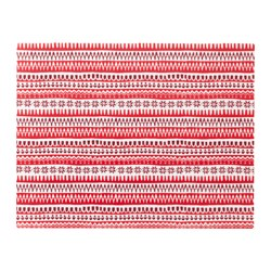 VINTER 2017 place mat, red, white striped