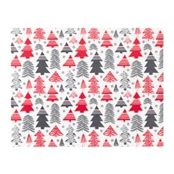 VINTER 2017 place mat, white red, grey