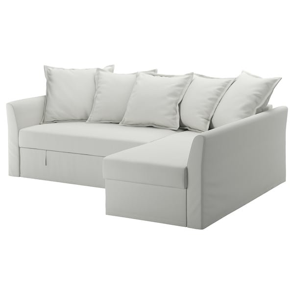 official photos d1b12 35c11 Corner sofa-bed HOLMSUND Orrsta light white-grey
