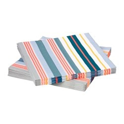 MÅTTLÖS paper napkin, multicolour, striped Length: 33 cm Width: 33 cm Package quantity: 30 pieces