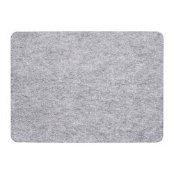 VÄLBEHÅLL place mat, light grey