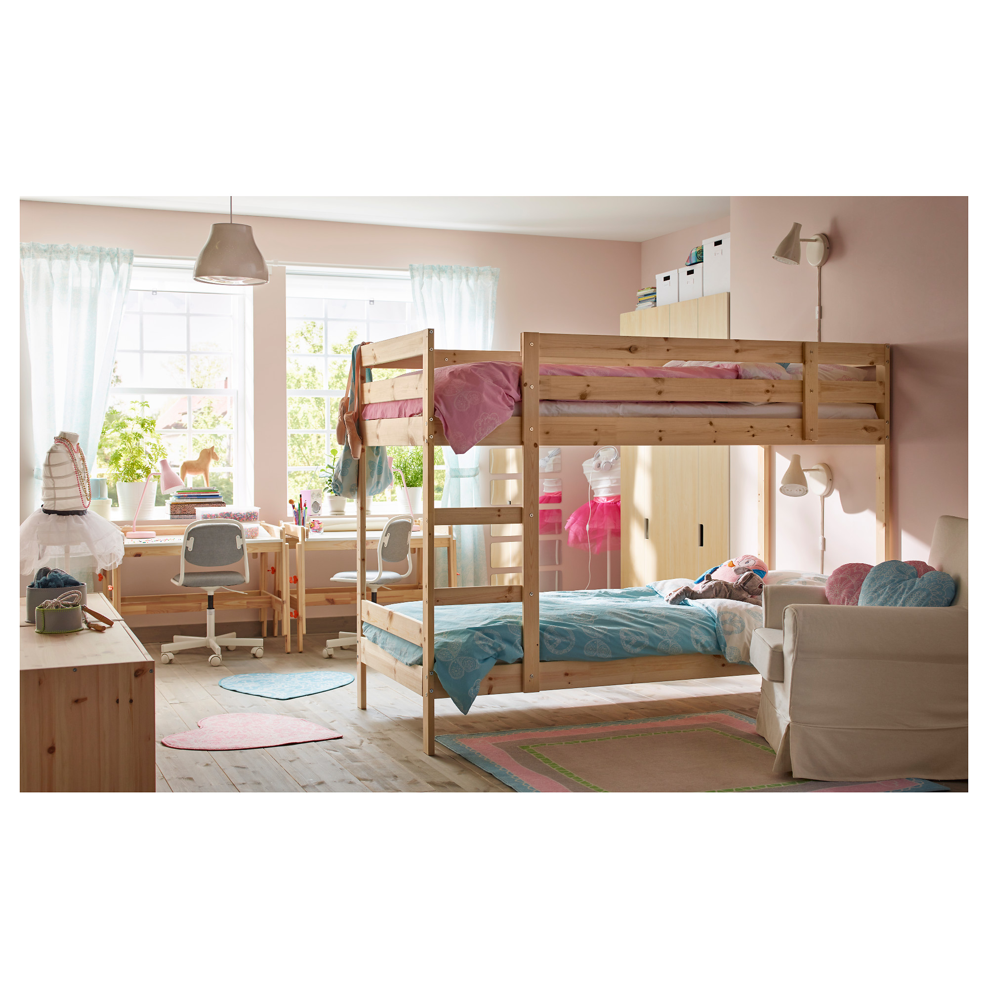 shaped features longer bunk space accommodated beds due bed is the others with unit this than ceiling to a quite being top low saving staircase l wooden