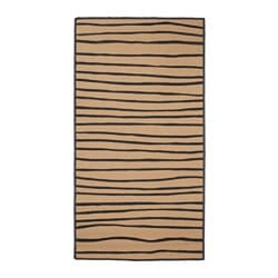 "VINTER 2017 rug, flatwoven, striped natural, gray Length: 4 ' 11 "" Width: 2 ' 7 "" Area: 12.92 sq feet Length: 150 cm Width: 80 cm Area: 1.20 m²"