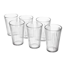 VARDAGEN glass, clear glass Height: 13 cm Volume: 43 cl Package quantity: 6 pack
