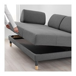 Flottebo Sleeper Sofa Lysed Dark Gray