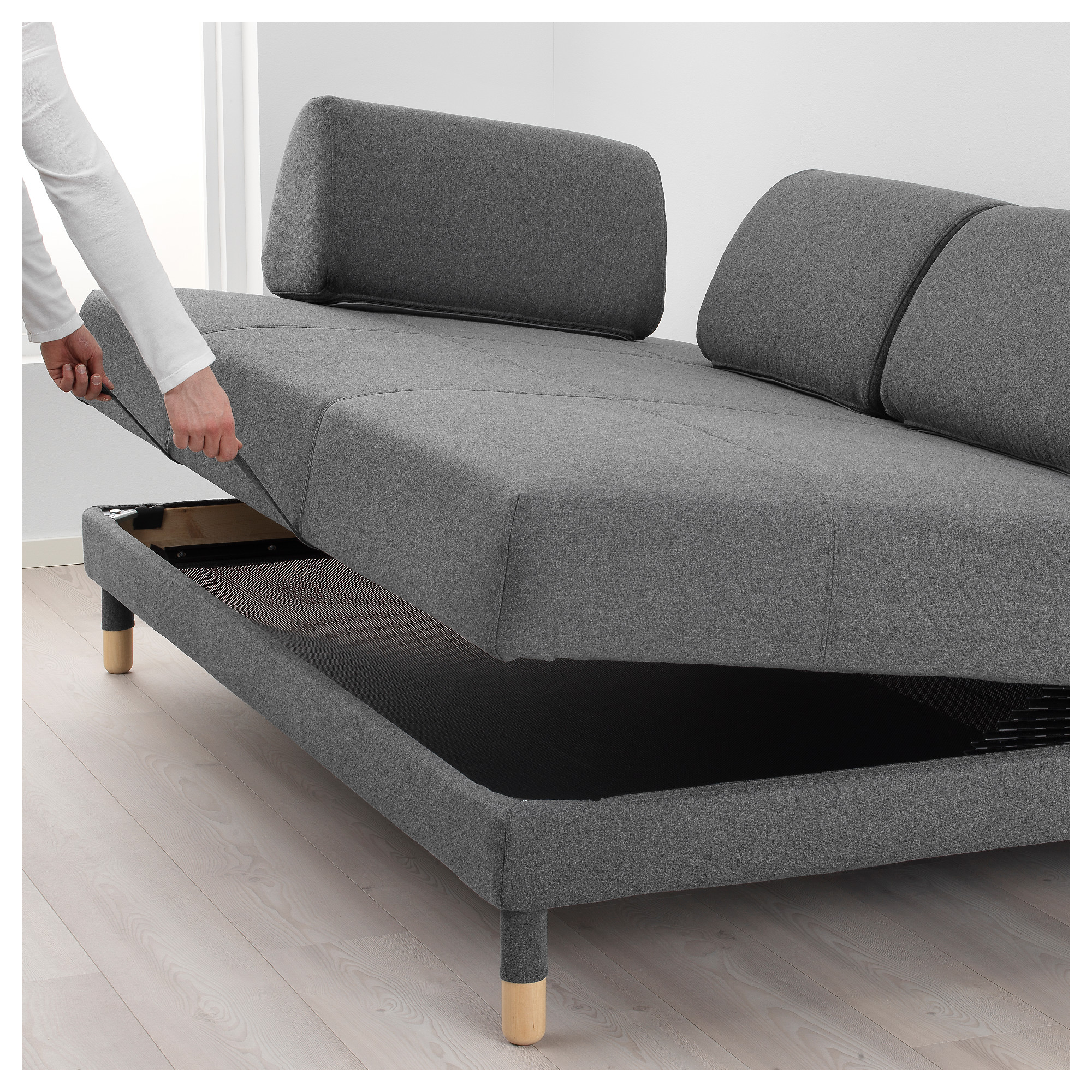 Superbe FLOTTEBO Sleeper Sofa   Lysed Dark Gray   IKEA