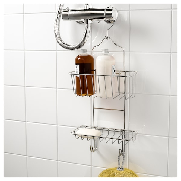 immeln shower caddy two tiers zinc plated ikea