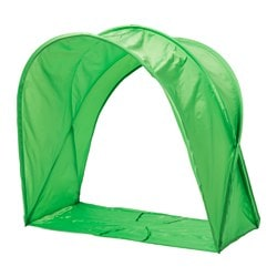 SUFFLETT bed tent, green Height: 80 cm
