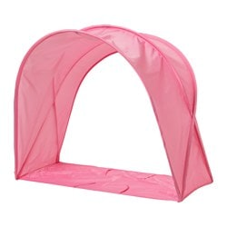 SUFFLETT bed tent, pink Height: 80 cm