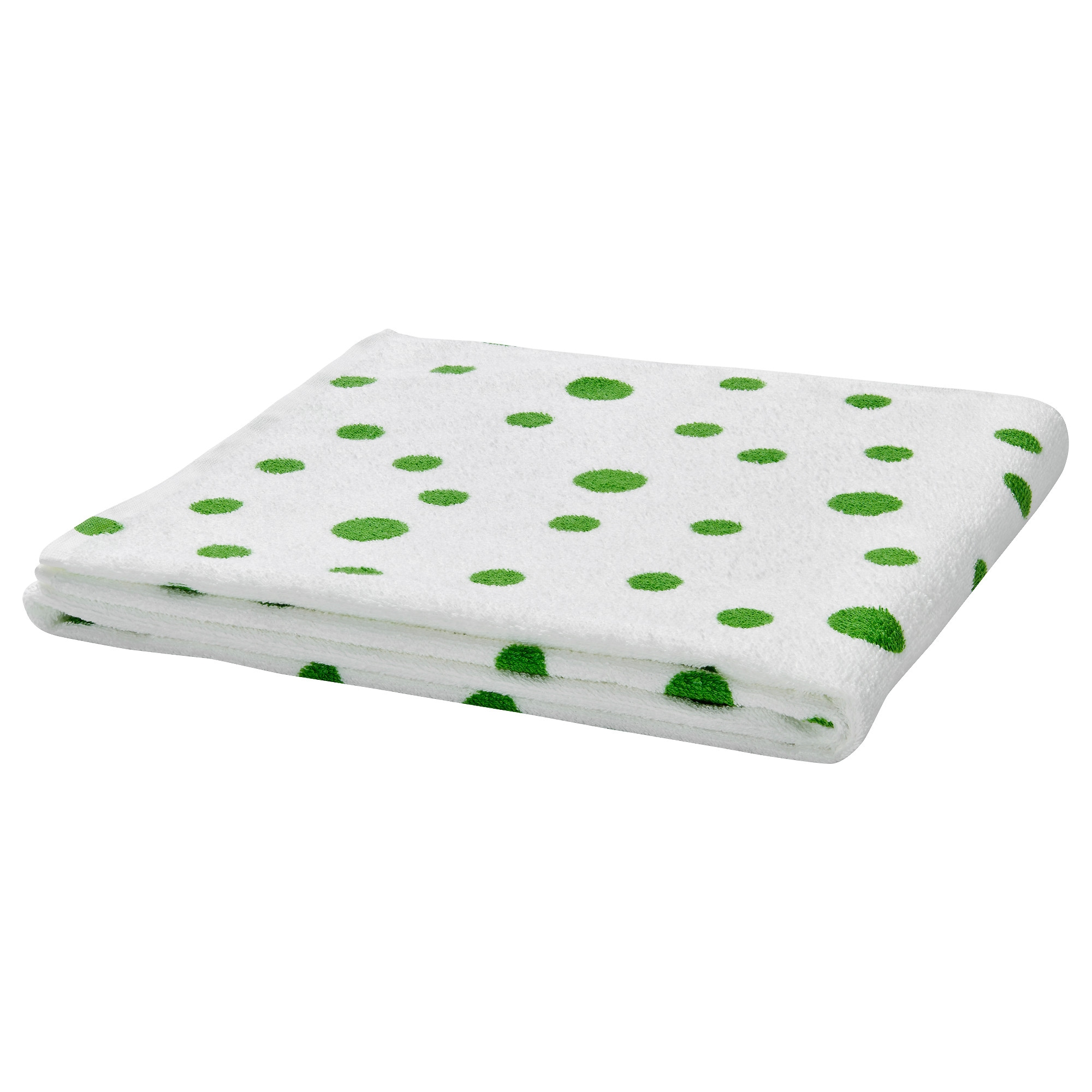 Black and white monogrammed shower curtain - Yttern Bath Towel Dotted Green Length 55 Width 28 Surface Density