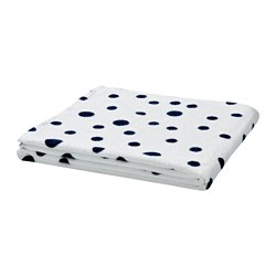 "YTTERN bath towel, dotted dark blue Length: 55 "" Width: 28 "" Surface density: 1.28 oz/sq ft Length: 140 cm Width: 70 cm Surface density: 390 g/m²"