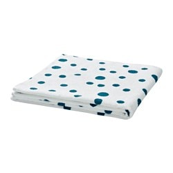 "YTTERN bath towel, dotted blue Length: 55 "" Width: 28 "" Surface density: 1.28 oz/sq ft Length: 140 cm Width: 70 cm Surface density: 390 g/m²"