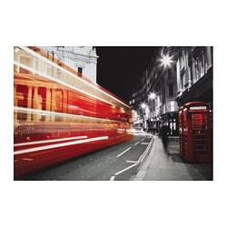 "EDELVIK poster, telephone booth, United Kingdom Width: 24 "" Height: 35 ¾ "" Width: 61 cm Height: 91 cm"