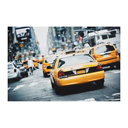 "EDELVIK poster, New York taxi cab Width: 24 "" Height: 35 ¾ "" Width: 61 cm Height: 91 cm"
