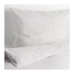 TRÄDASTER duvet cover and pillowcase(s), gray