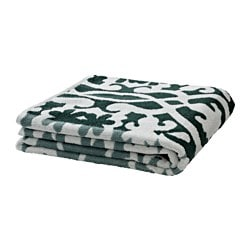 BLÄDJAN bath towel, green
