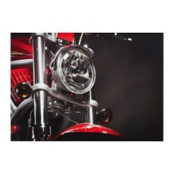 "EDELVIK poster, Red motorcycle Width: 27 ½ "" Height: 19 ¾ "" Width: 70 cm Height: 50 cm"