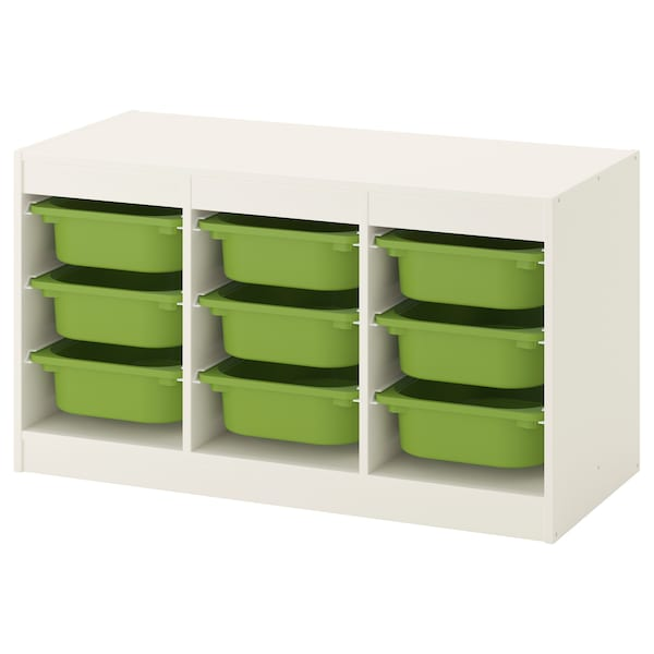Storage Combination With Boxes Trofast White Green