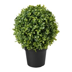FEJKA artificial potted plant, indoor/outdoor, box ball shape