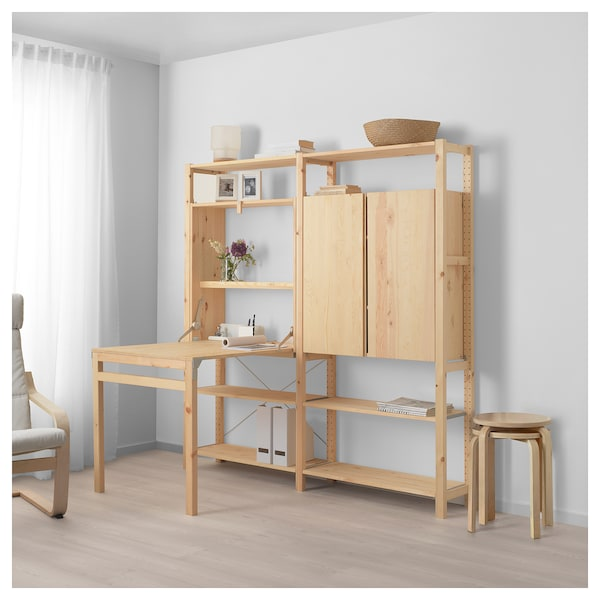Ivar 2 Secstorage Unit W Foldable Table Ikea