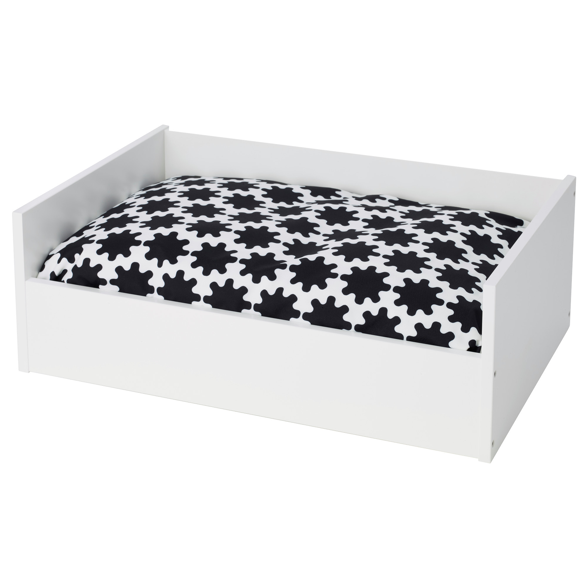 Lurvig pet bed with pad white green white ikea