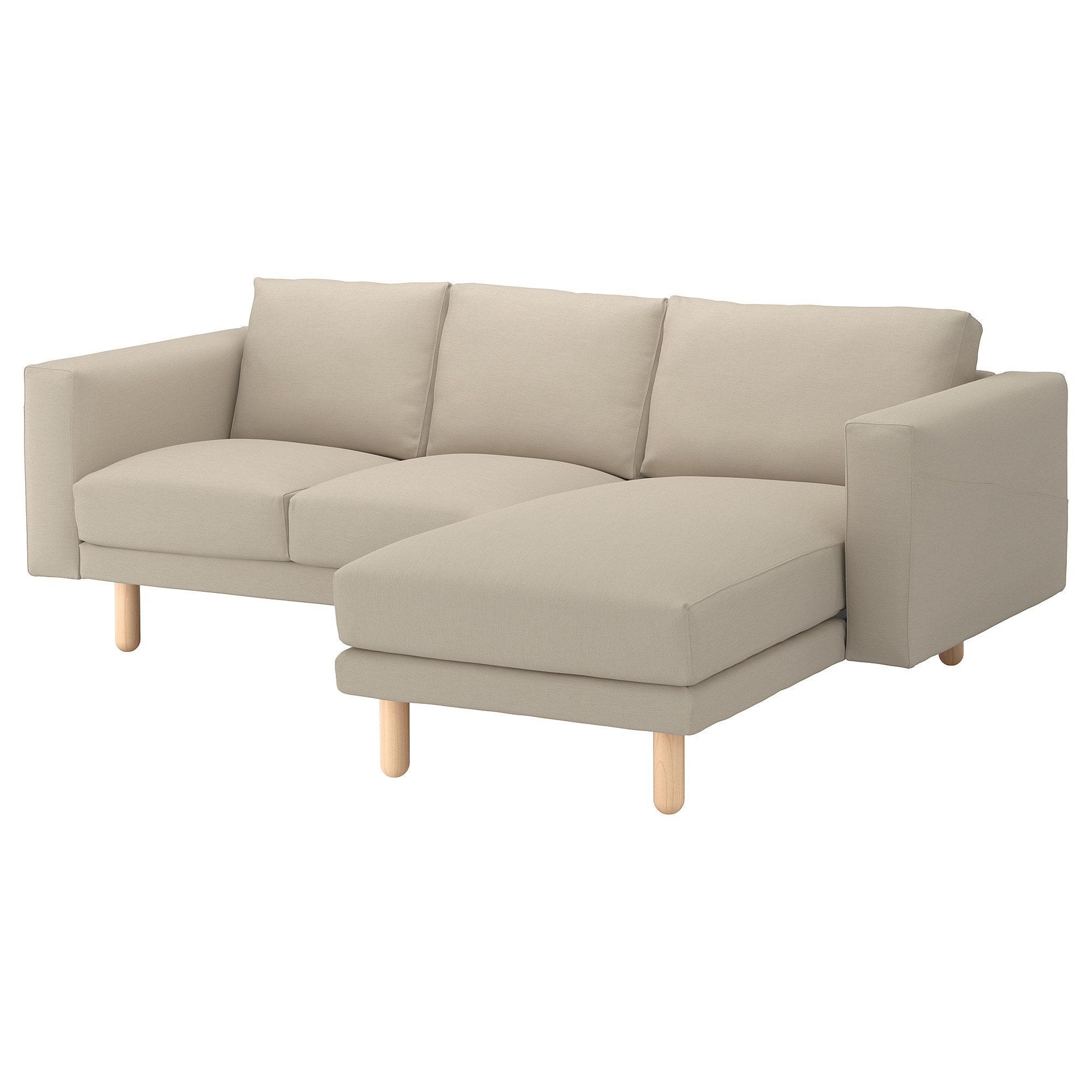 NORSBORG sectional 3-seat Edum beige birch Width 91   Height  sc 1 st  Ikea : ikea sectional sofa - Sectionals, Sofas & Couches