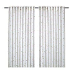 MYRTENTRY sheer curtains, 1 pair, dotted white