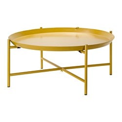 "JORID tray table, yellow Height: 11 3/4 "" Diameter: 28 3/4 "" Height: 30 cm Diameter: 73 cm"