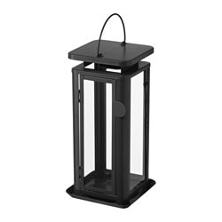 "SINNESRO lantern for candle, indoor/outdoor, gray Height: 11 ½ "" Height: 29 cm"