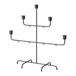 VINTER 2017 candlestick for 5 candles, black Height: 42 cm