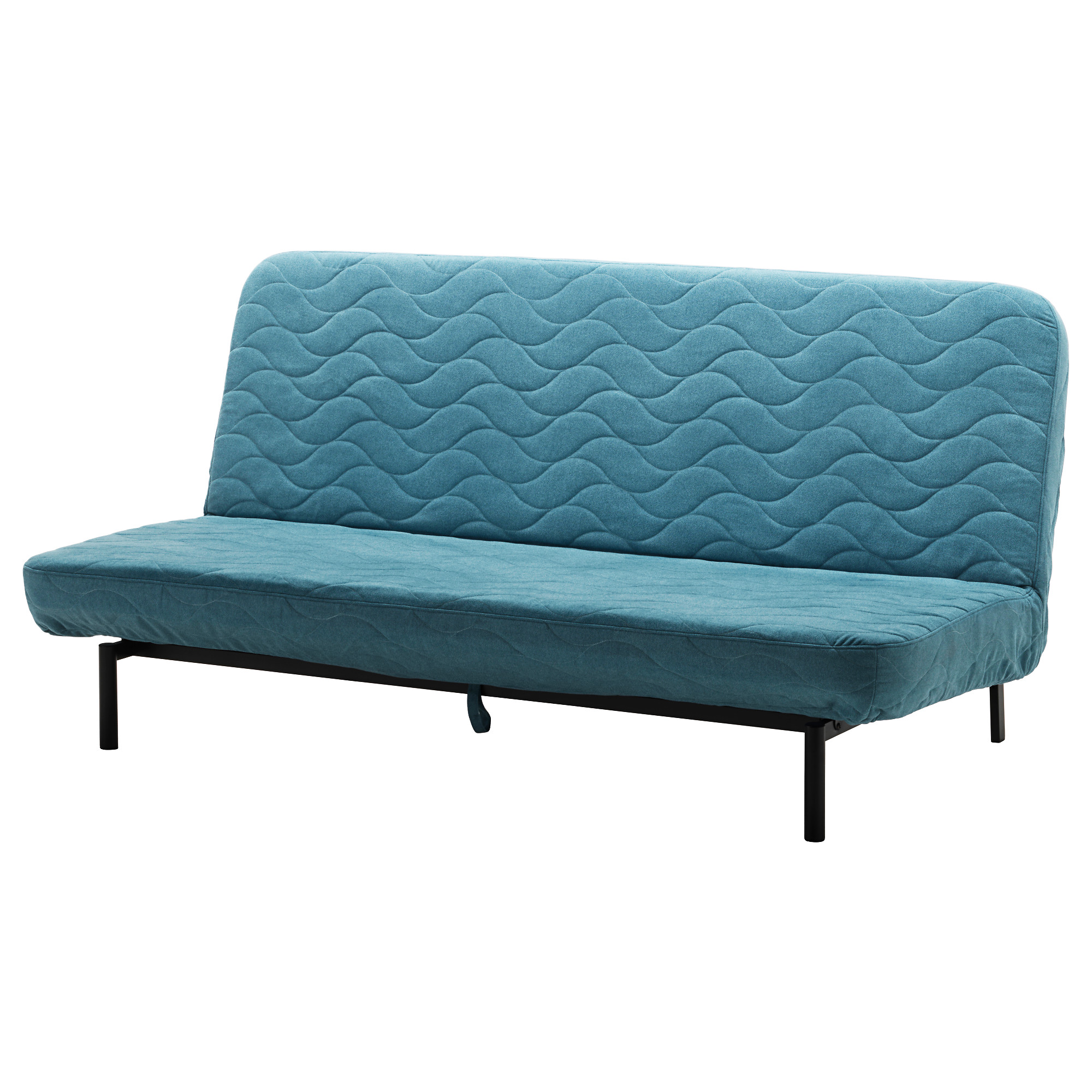 Nyhamn Sleeper Sofa With Pocket Spring Mattress Borred Green Blue