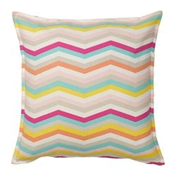 SOMMAR 2018 cushion cover, zigzag pattern, multicolor