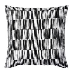 VENDLA cushion cover, black/white