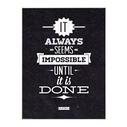 ЭДЕЛВИК постер, Impossible until done