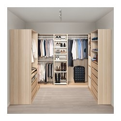 pax fitted walk in and corner wardrobes without doors. Black Bedroom Furniture Sets. Home Design Ideas