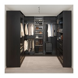 Pax Corner Wardrobe Black Brown