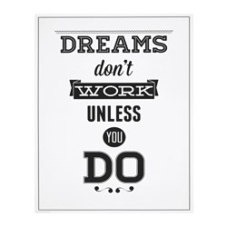 "EDELVIK poster, Dreams don't work Width: 20 "" Height: 16 ¼ "" Width: 51 cm Height: 41 cm"