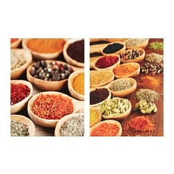"EDELVIK poster, set of 2, Spices Width: 16 ¼ "" Height: 12 ¼ "" Width: 41 cm Height: 31 cm"